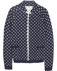 Chinti And Parker Jacquard Knit Cotton Jacket - Lyst
