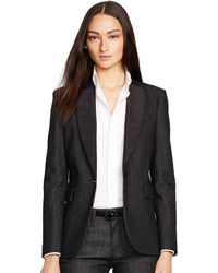 Ralph Lauren Black Label Denim Carmela Jacket - Lyst