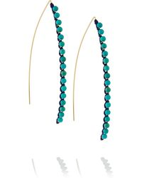 Aurelie Bidermann Sioux Gold-plated Cotton and Turquoise Earrings - Lyst