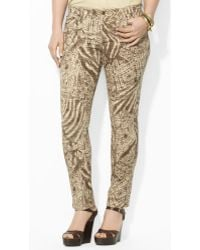Lauren by Ralph Lauren Patterned Stretch Skinny Jean - Lyst