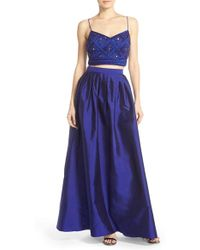 Adrianna Papell | Embellished Top & Taffeta Two-piece Ballgown | Lyst