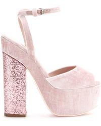 Giamba - Velvet Platform Sandals - Lyst