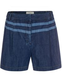 Paul Smith Dark-Wash Denim Shorts With Line Detail blue - Lyst