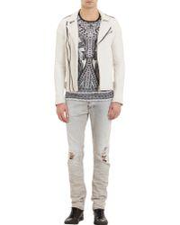 Iro Evan Leather Jacket White - Lyst