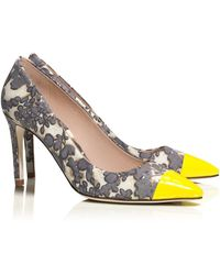 Tory Burch Issy High-heel Floral Pump - Lyst