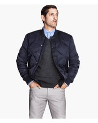 H&M Quilted Bomber Jacket - Lyst