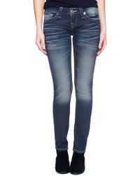 True Religion Hand Picked Skinny Womens Jean - Lyst