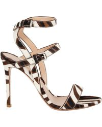 Gianvito Rossi Crisscross Anklestrap Sandals - Lyst