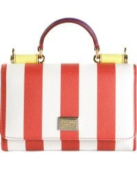 Dolce & Gabbana Miss Sicily Small Leather Shoulder Bag - Lyst