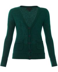 Burberry Prorsum Cashmere And Silk-Blend Cardigan - Lyst
