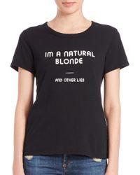 Pam & Gela | Natural Blonde Graphic Tee | Lyst