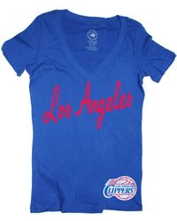 Sportiqe - Women's Short-sleeve Los Angeles Clippers V-neck T-shirt - Lyst