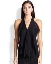 Donna Karan New York Stretch Silk Petal Blouse - Lyst