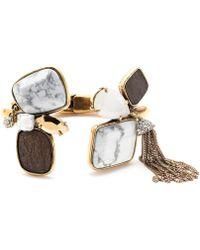 J.Crew Mixed Stone Tassel Cuff Bracelet - Lyst
