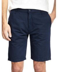 7 For All Mankind Cotton-Linen Chino Shorts blue - Lyst