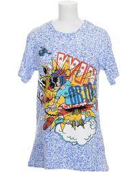 Jeremy Scott T-Shirt blue - Lyst