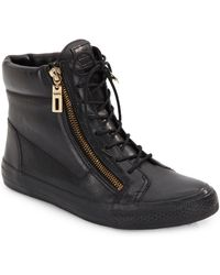 Schutz Leather High-Top Sneakers - Lyst