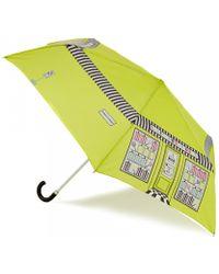Lulu Guinness Sweet Shop Superslim Umbrella green - Lyst
