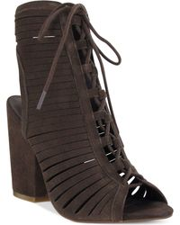 MIA - Shay Lace Up Booties - Lyst