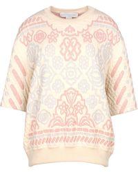 Stella McCartney Pastel Jacquard Sweatshirt - Lyst