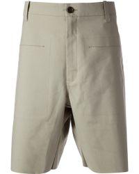 Adidas Beige Tailored Shorts - Lyst