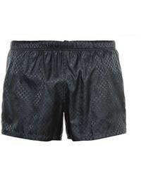 Gucci Logo-Print Swim Shorts blue - Lyst
