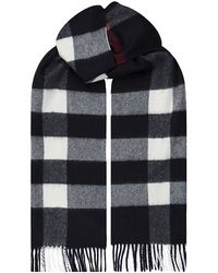 Burberry Brit - Large Check Cashmere Scarf - Lyst