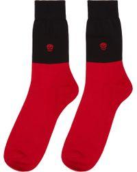 Alexander McQueen Colorblocked Socks - Lyst