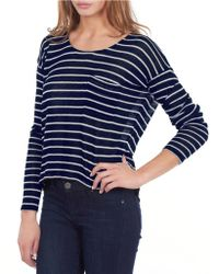 William Rast Striped Drop-Sleeve Top - Lyst