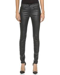 Joe's Jeans Coated Mid Rise Skinny Jeans  - Lyst