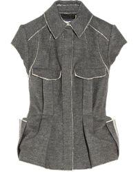 Lanvin Raw-edged Wool-blend Flannel Jacket - Lyst