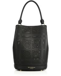 Burberry | Laser-cut Leather Bucket Bag | Lyst