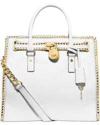 Michael Kors Michael Whipped Hamilton North South Tote - Lyst