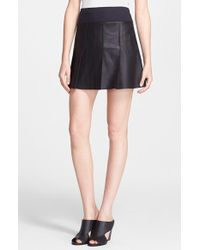 Vince Leather Skirt - Lyst