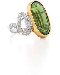Fred Leighton - Peridot & Diamond Ring - Lyst