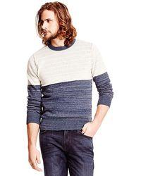 Tommy Hilfiger Textured Stripe Sweater - Lyst