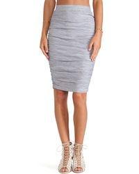 Splendid Space Dyed Jersey Skirt - Lyst