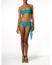Thayer Laceup Ruffle Bandeau - Lyst