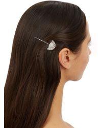 Ben-Amun - Silver Plated Swarovski Crystal Embellished Hair Pin - Lyst