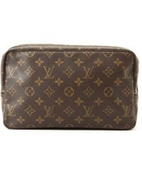 Louis Vuitton Pouch brown - Lyst