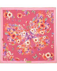Ferragamo | Layla Floral Butterfly Silk Scarf | Lyst