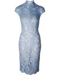 Lover Warrior Lace Midi Dress Cornflower - Lyst