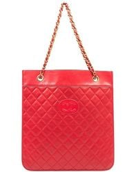Chanel Pre-Owned Red Flat Document Bag red - Lyst