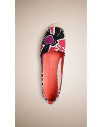Burberry Brit - Insects Of Britain Print Canvas Espadrilles - Lyst