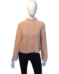 525 America Cable Knit Mock Turtleneck Sweater - Lyst