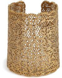Aurelie Bidermann Gold Lace Cuff - Lyst