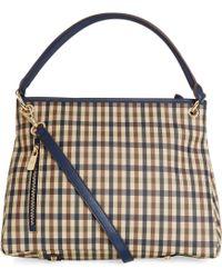 Aquascutum - Charlotte Club Check Small Leather Shopper Bag - Lyst