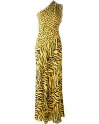 Moschino Cheap & Chic Animal Print One Shoulder Dress - Lyst