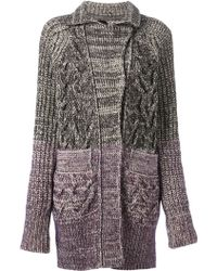 Sonia Rykiel Cable Knit Cardicoat - Lyst