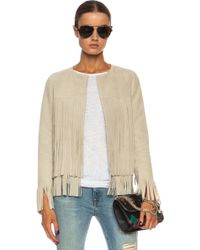 ThePerfext April Fringe Suede Jacket - Lyst
